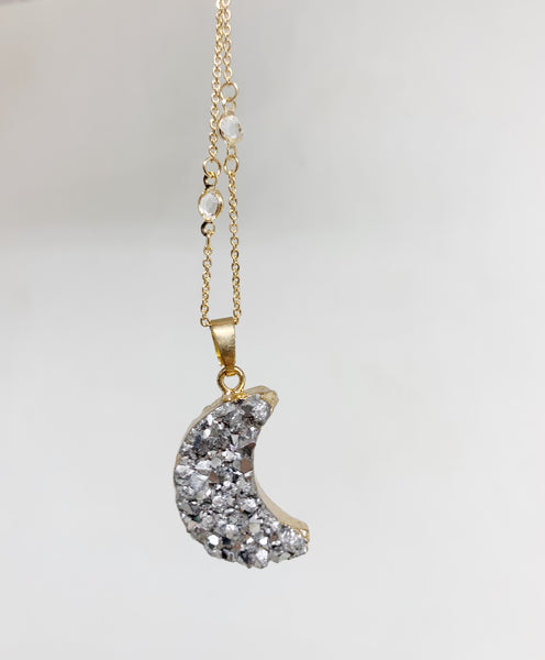 La Luna Necklace in Silver
