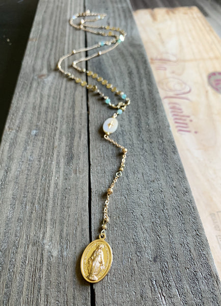 Sacred Saints Rosary Necklace