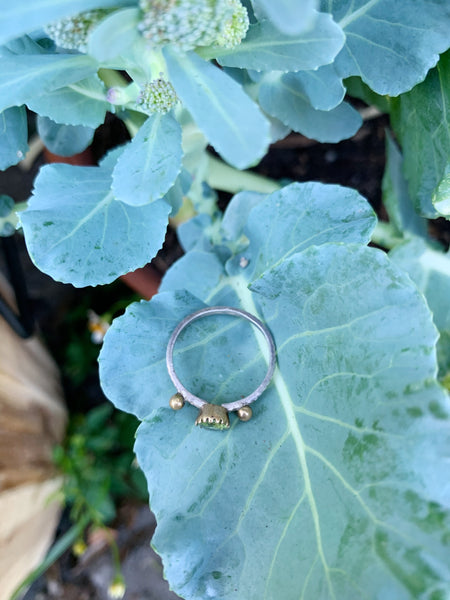 Perfectly Peridot Sterling Silver Ring - Size 7
