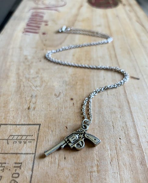Straight Shooter Necklace in Silver