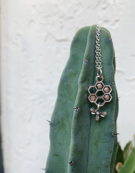 Queen Bee Necklace in Silver