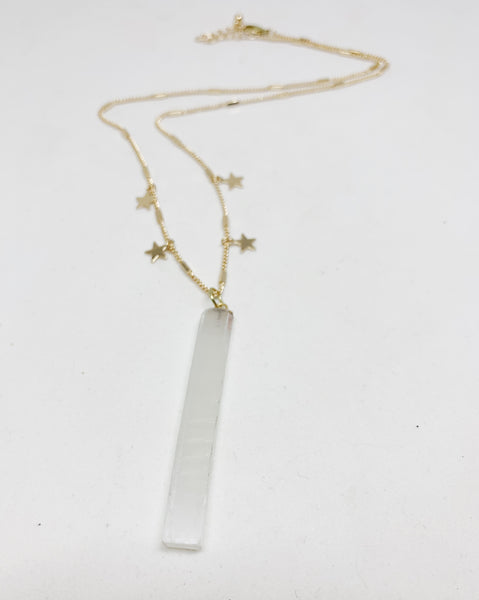 Selenite Stars Necklace