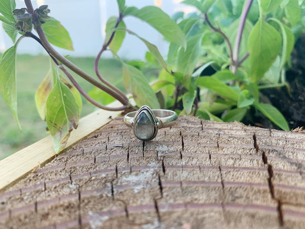 Love of Labradorite Sterling Silver Ring - Size 6.5