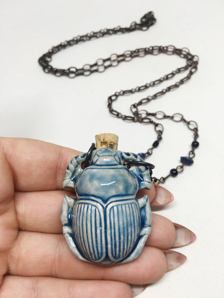 Sweet Scarab Necklace