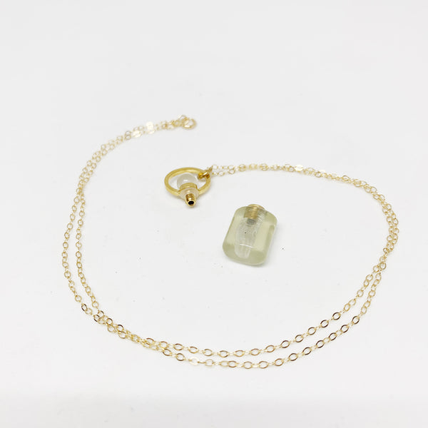 My Favorite Perfume Necklace in Quartz and 14k Gold Filled Chain