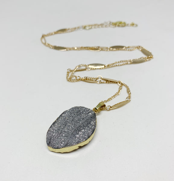 Amazing Aura Necklace in Titanium Silver