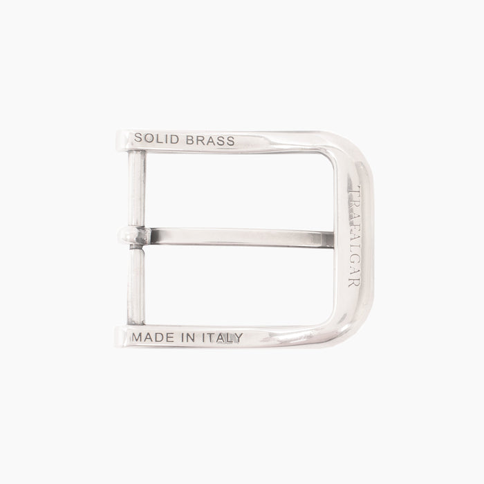 1 3/8 Inch Harness Buckle - English Silver over Brass