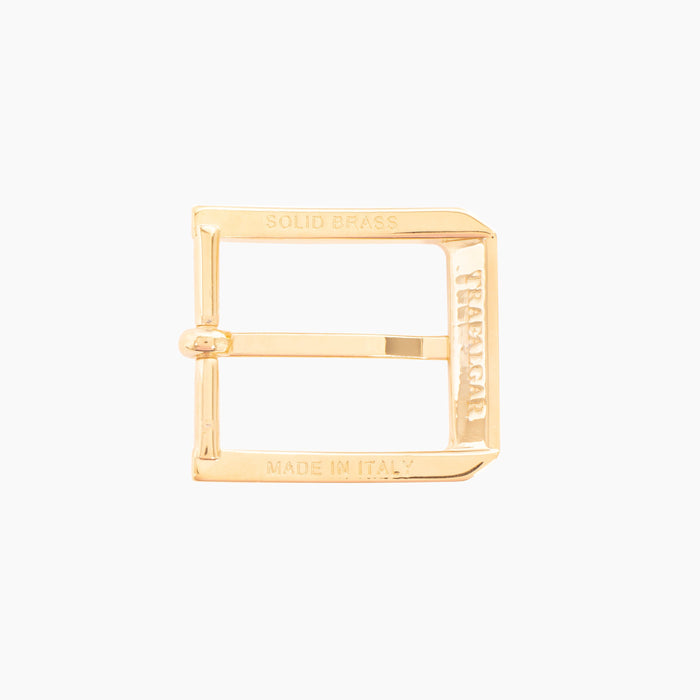 1 3/16 Inch Harness Buckle - 14K Gold Over Brass
