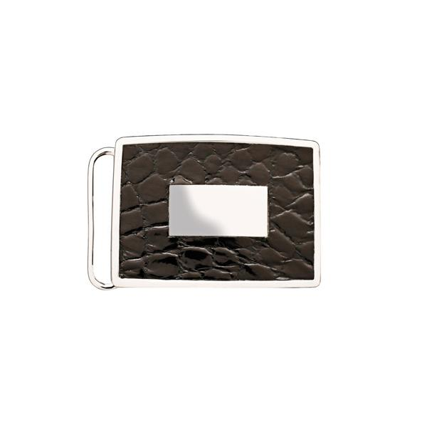 1 3/16 Inch Buckle - Genuine Alligator Inlay