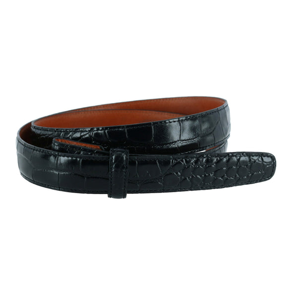 Antique Gator Grain 25mm Belt Strap