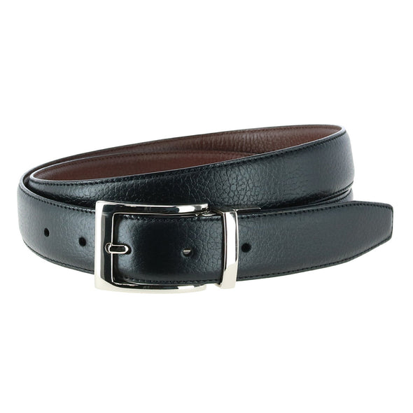 30MM Dorado Pebble Grain Leather Reversible Belt