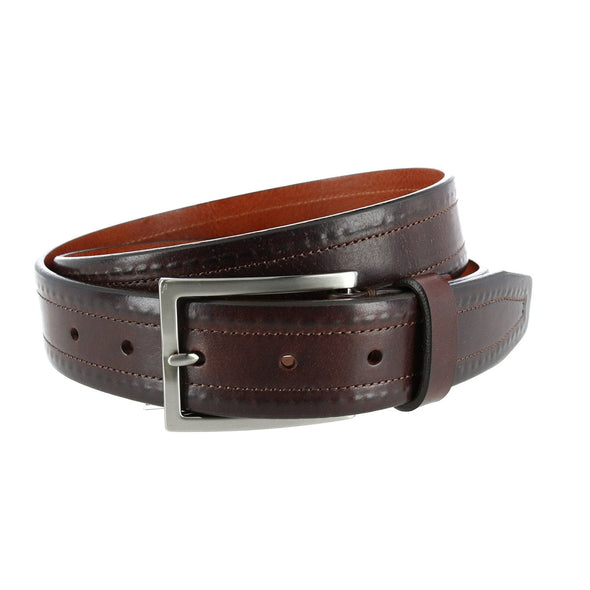 Wesley Covered Stitch Casual Leather Belt