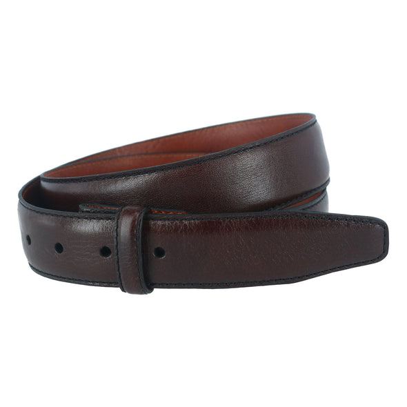 35mm Pebble Grain Leather Harness Belt Strap