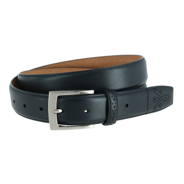 Perforated Touch Leather Belt
