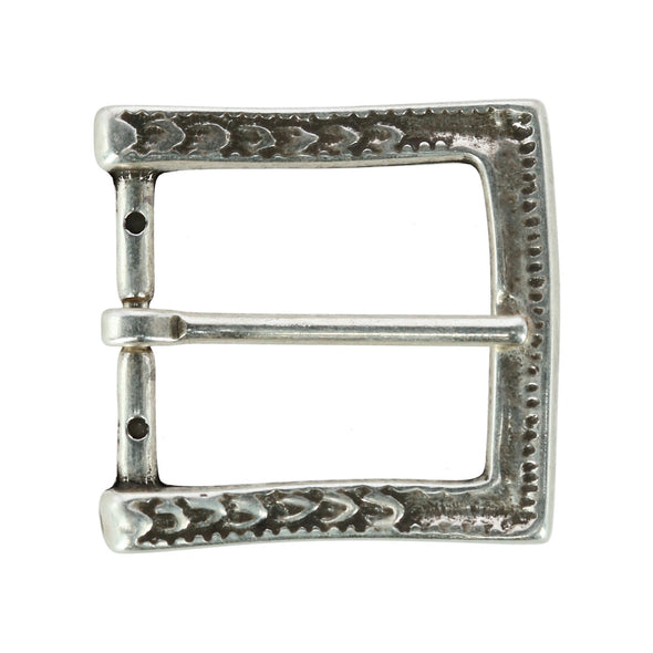 40mm Scrolling Detail Single Pronged Solid Brass Belt Buckle