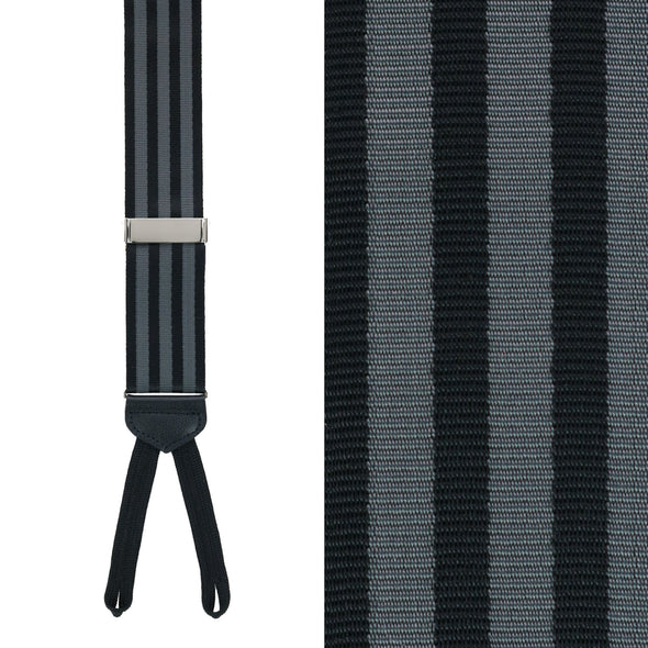 Black with Grey Stripe