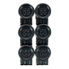 No Sew Moveable Button End Brace Clips (Set of 6)