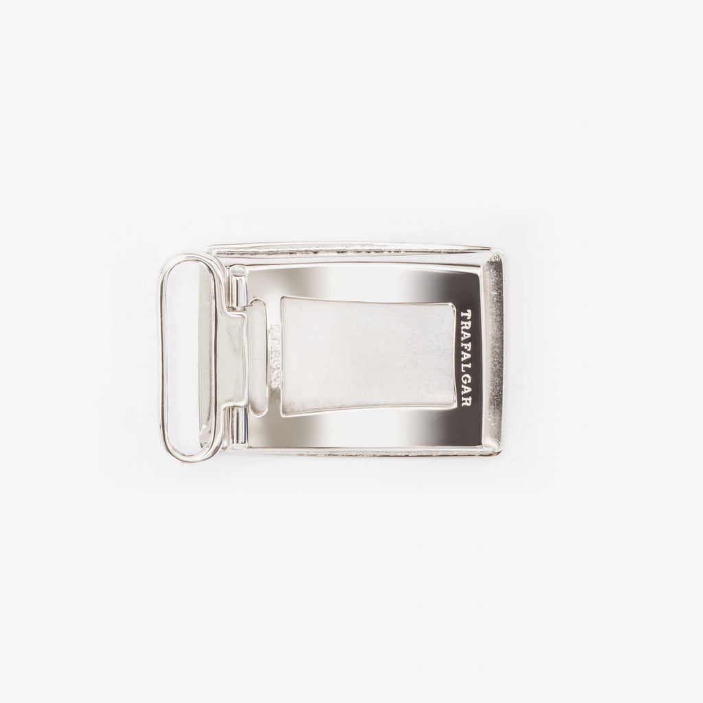 1 3/16 Inch Buckle - Rhodium Over Solid Sterling Silver