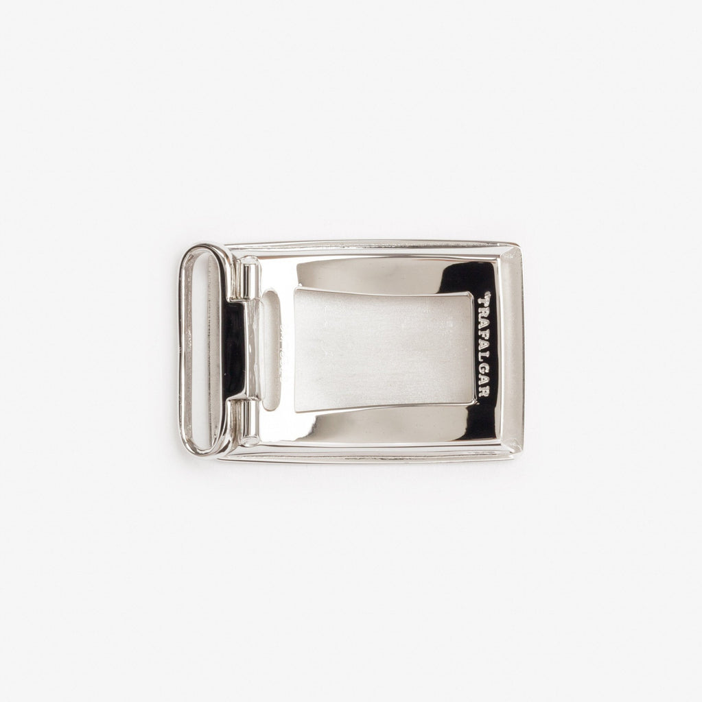 1 3/16 Inch Buckle - Etched Rhodium Over Sterling Silver