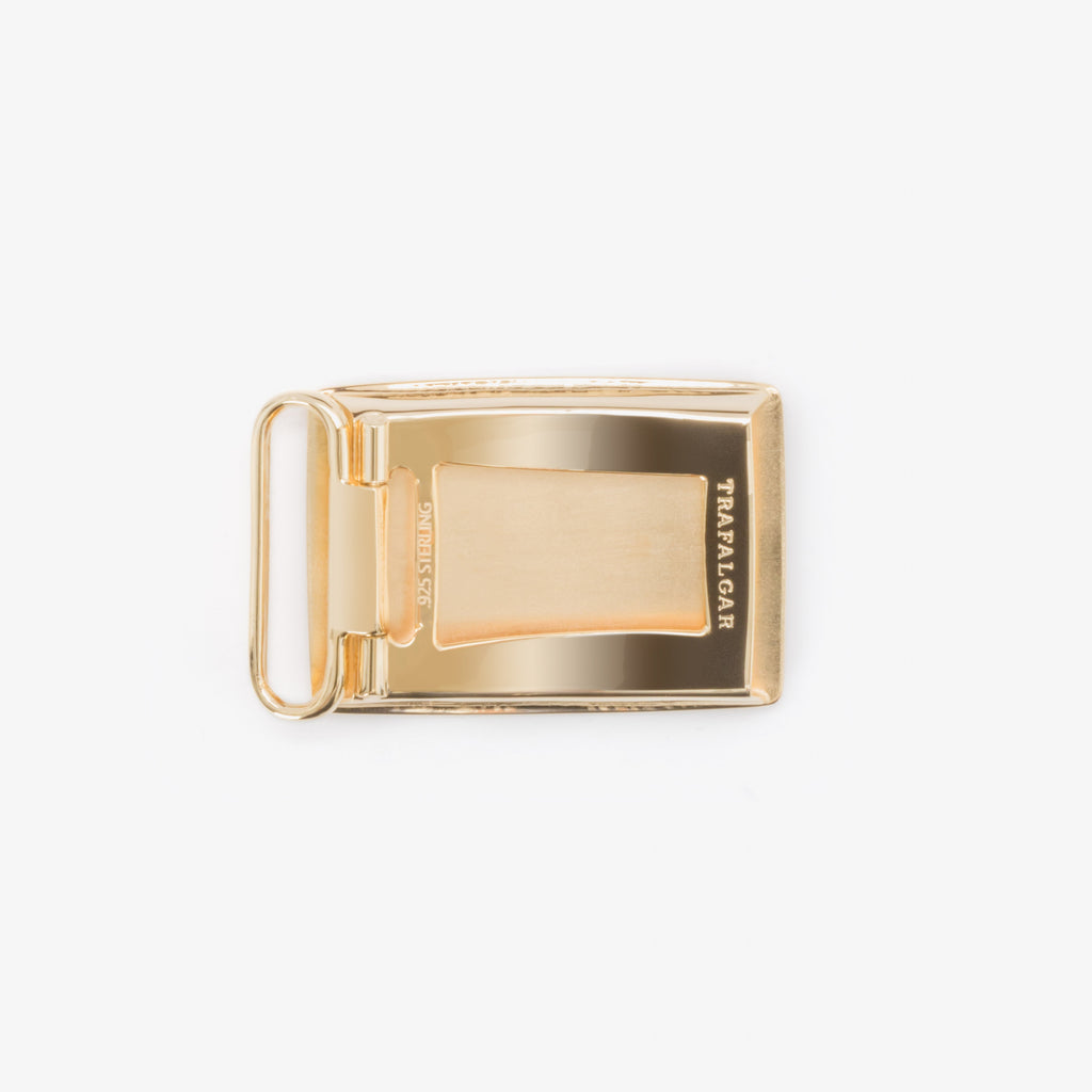 1 3/16 Inch Buckle - Etched 24K Gold Over Sterling Silver