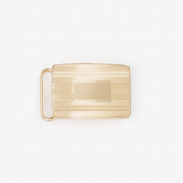 "1 3/16"" Buckle - Etched 24K Gold Over Brass"