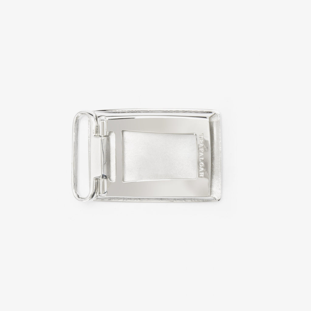 1 3/16 Inch Buckle - Rhodium Over Brass