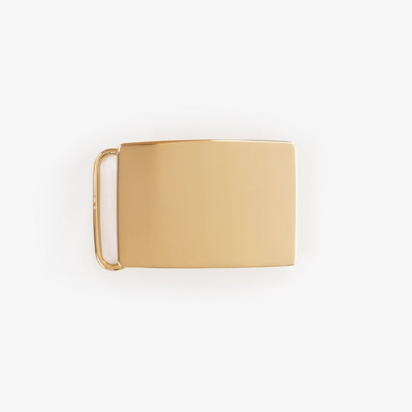 24K Gold Over Brass 1 3/16 Inch Buckle