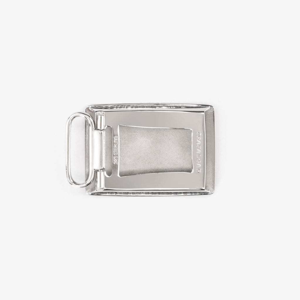 1 Inch Buckle - Rhodium Over Solid Sterling Silver