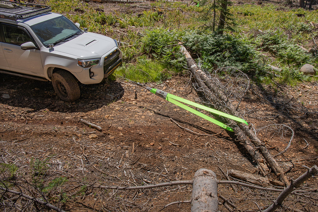 Tree Saver Strap - Using with Winch