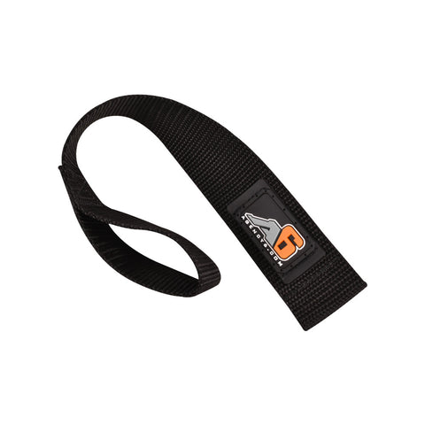 A6™ WINCH HOOK Pull Strap - SOLID BLACK - 1.5 inch wide