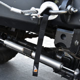 A6™ WINCH HOOK Pull Strap - SOLID BLACK - 1 inch wide