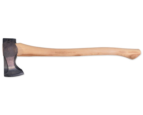2lb Wood-Craft Pack Axe, 24″ Curved Handle with Leather Mask
