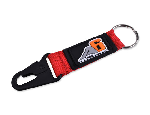 Agency 6 Key Chain - Red