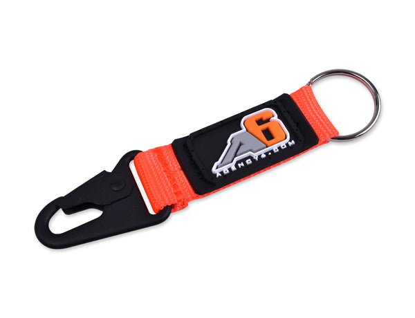 Agency 6 Key Chain - Safety Orange