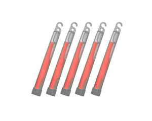 "6"" Chemlights - RED (Pack of 5)"