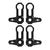 L-SHAPED ROOF LOCKS - JK JEEP (Set of 4) - BLACK