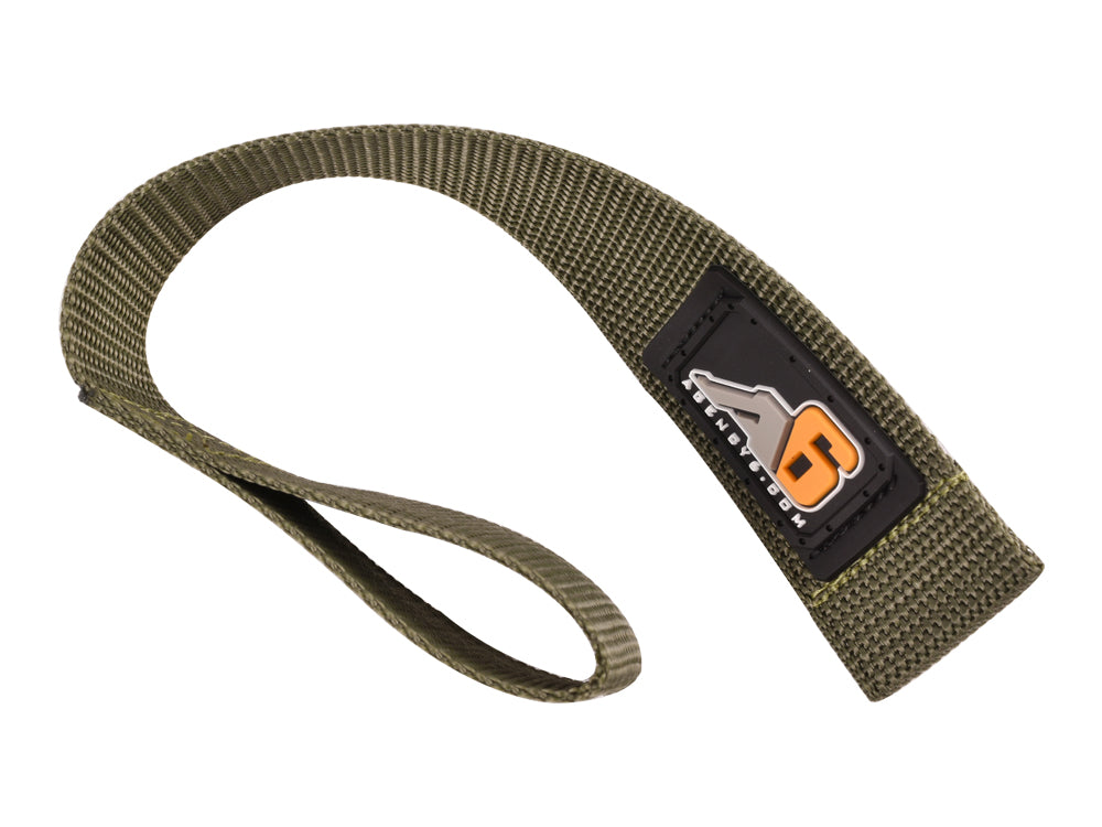 Solid Black Made in The U.S.A. 1 INCH Wide Agency 6 Winch Hook Pull Strap Heavy Duty