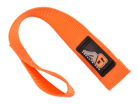 A6™ WINCH HOOK Pull Strap - ORANGE - 1.5 inch wide