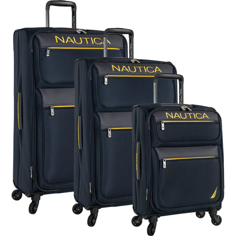 Nautica Cargo Bay 3 Piece Expandable Spinner Luggage Set