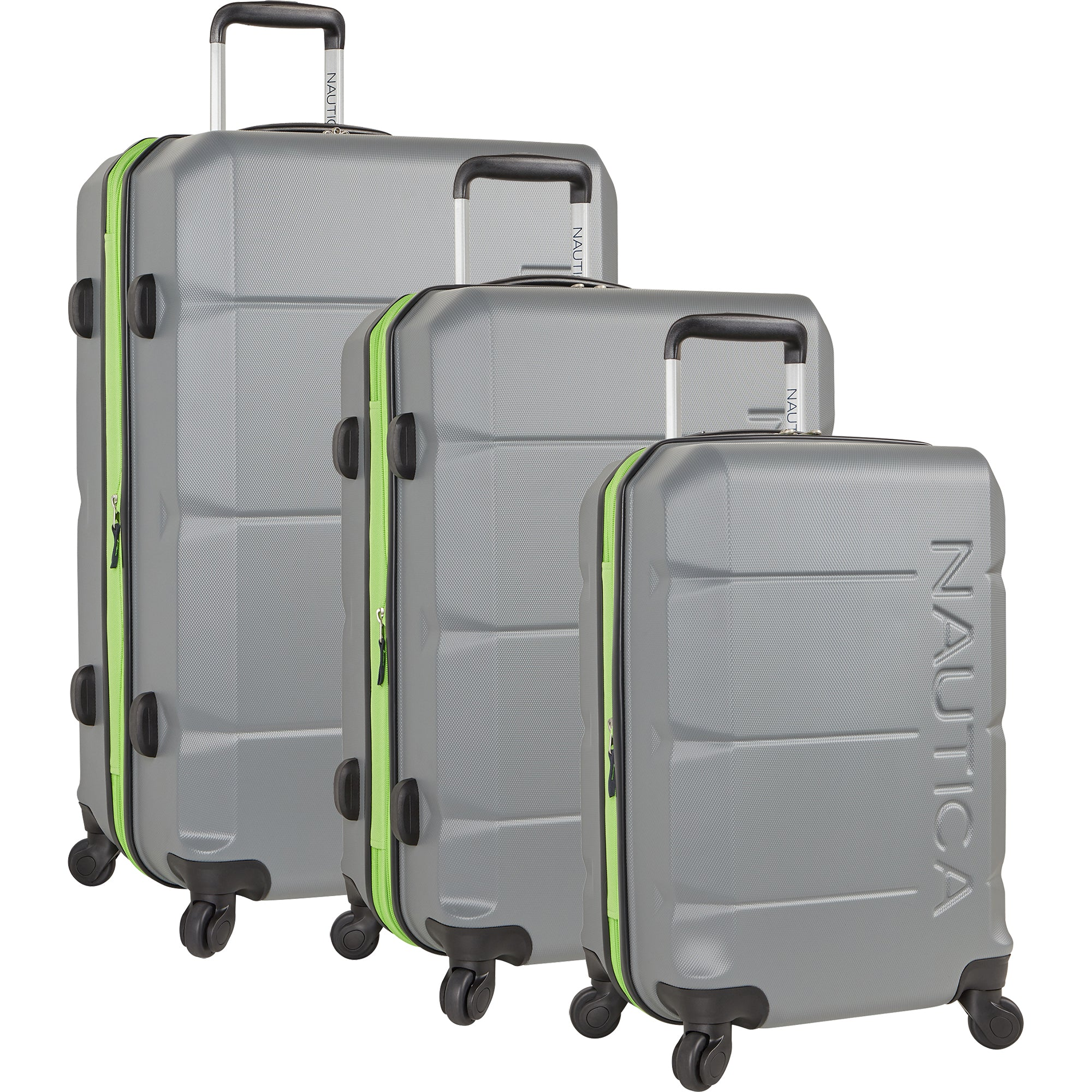 fe6d989260e0 Nautica Marine 3 Piece Expandable Spinner Luggage Set