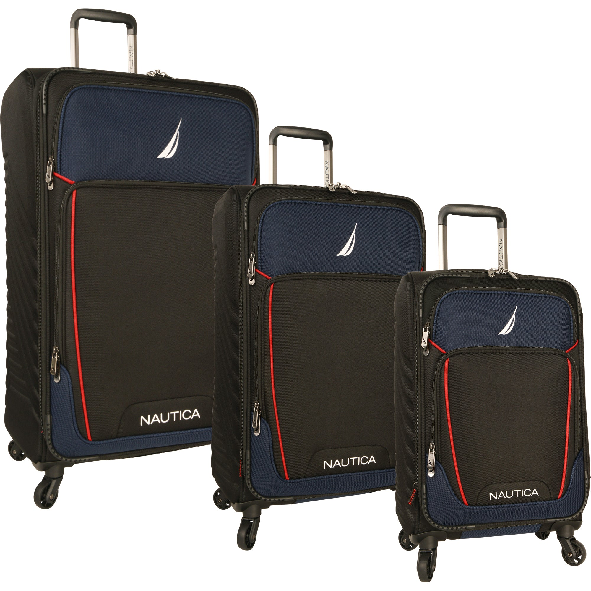 Nautica Dockyard 3 Piece Expandable Spinner Luggage Set