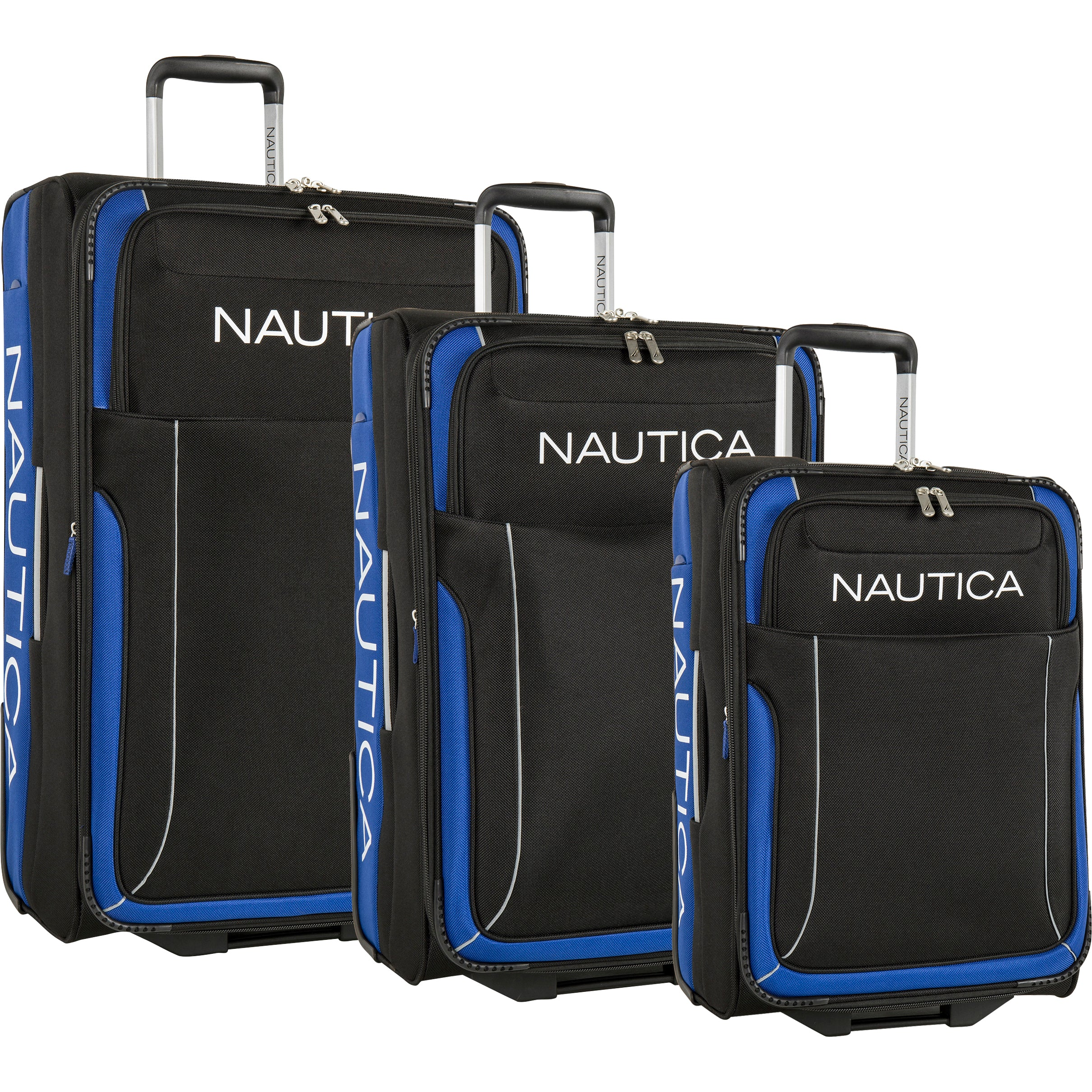 57dffd274 Nautica Point of Sail 3 Piece Expandable Luggage Set – Luggage Guy
