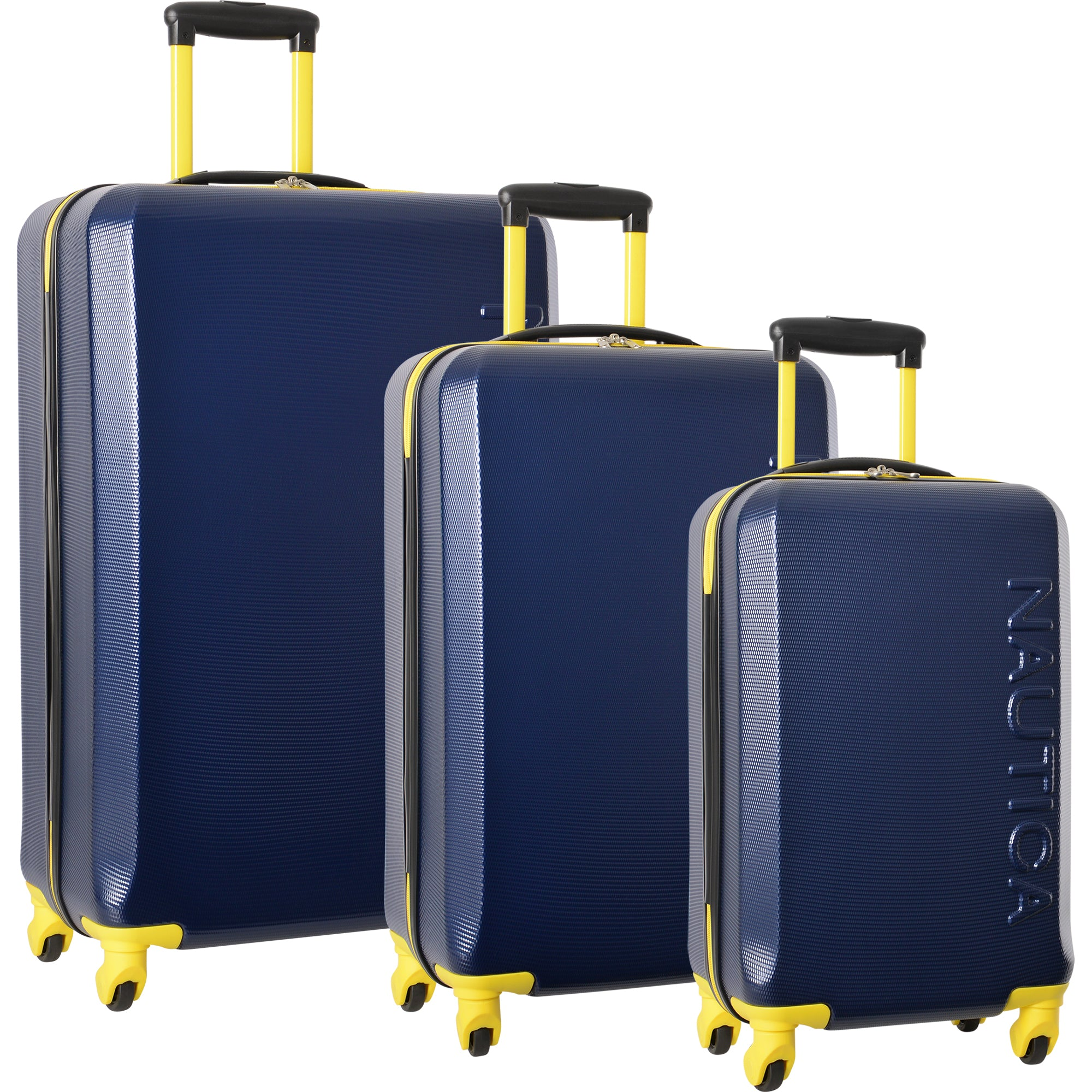 260df97f75ea Nautica Marina 3 Piece Hardside Spinner Luggage Set