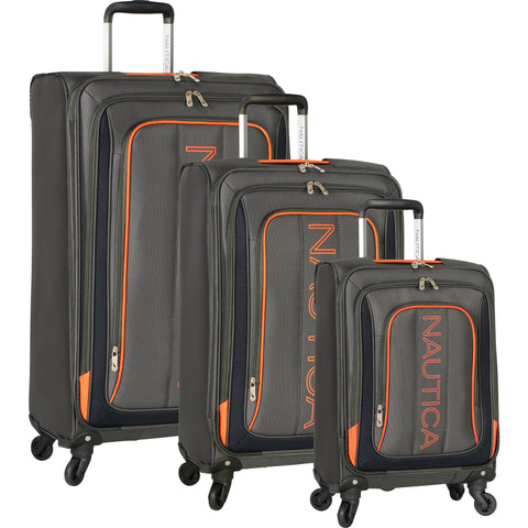 Nautica Dispatch Ridge 3 Piece Expandable Spinner Luggage Set