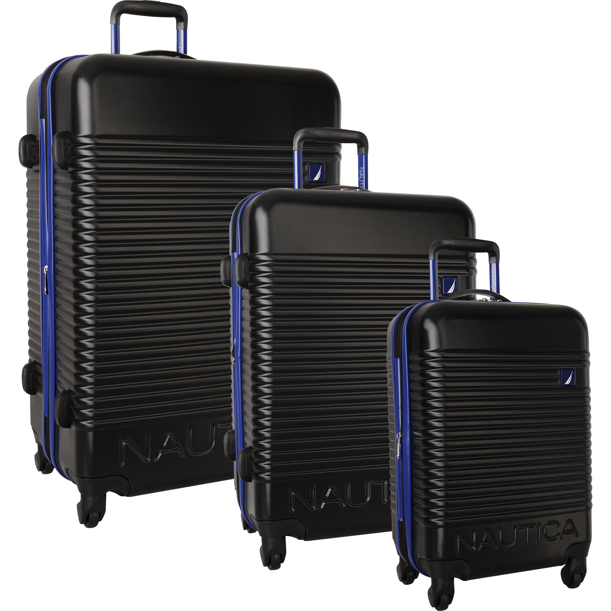b3df115c20f9 Nautica Sunset Park 3 Piece Hardside Spinner Luggage Set