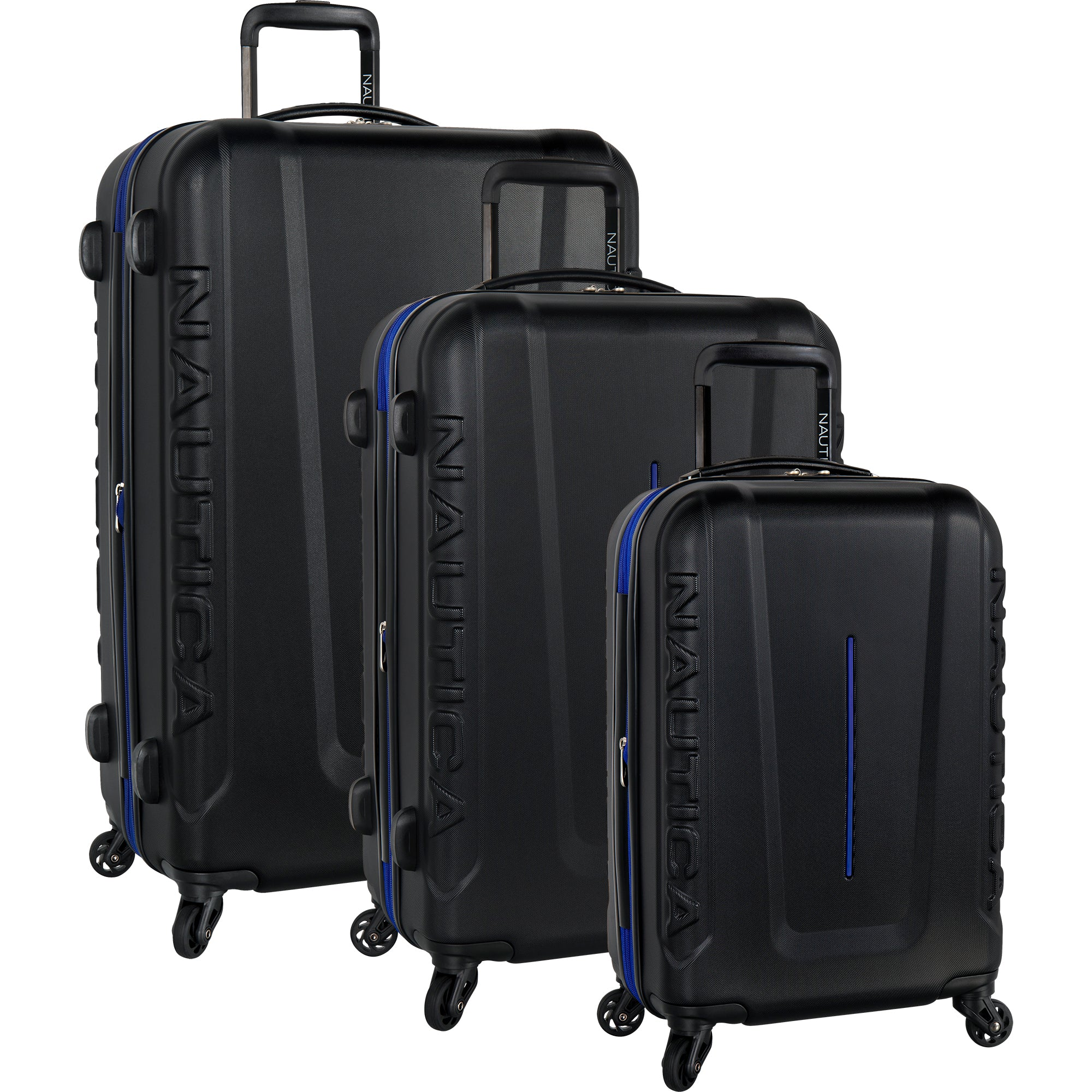 1d71ef2d5446 Nautica Vernon Bay 3 Piece Expandable Spinner Luggage Set