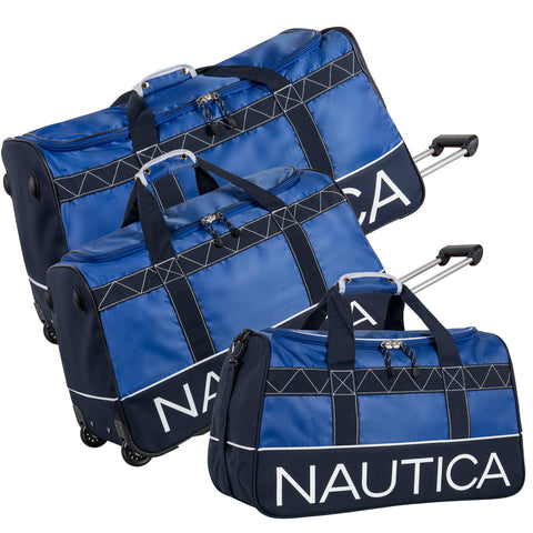 Nautica Dockside 3 Piece Wheeled Duffle Set