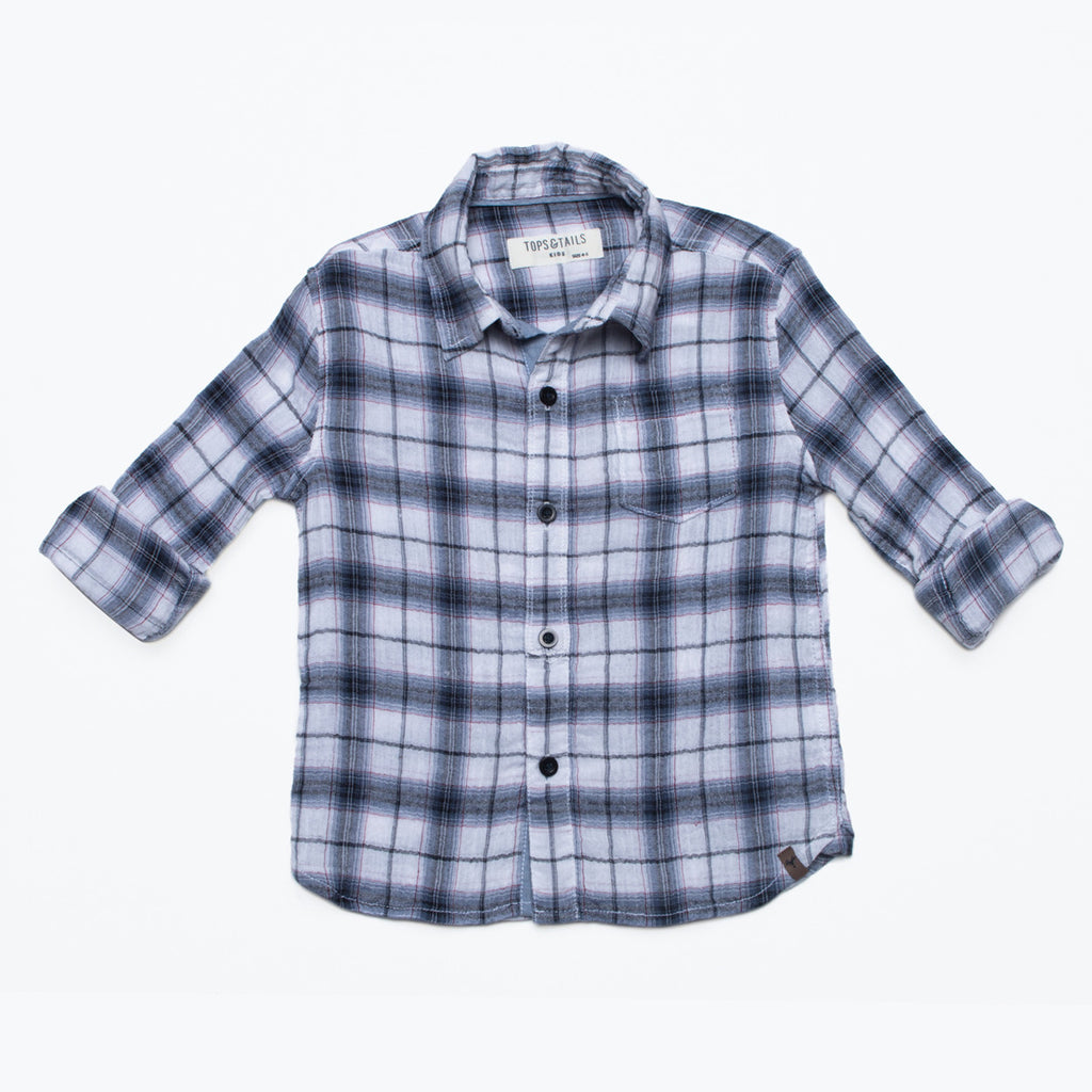 Boy's Summer Plaid Shirt