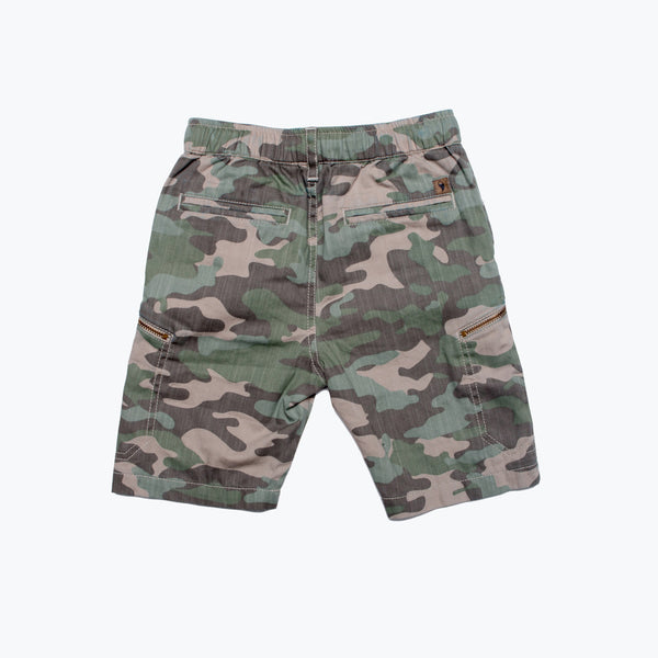 Boy's Pull-On Utility Camo Shorts