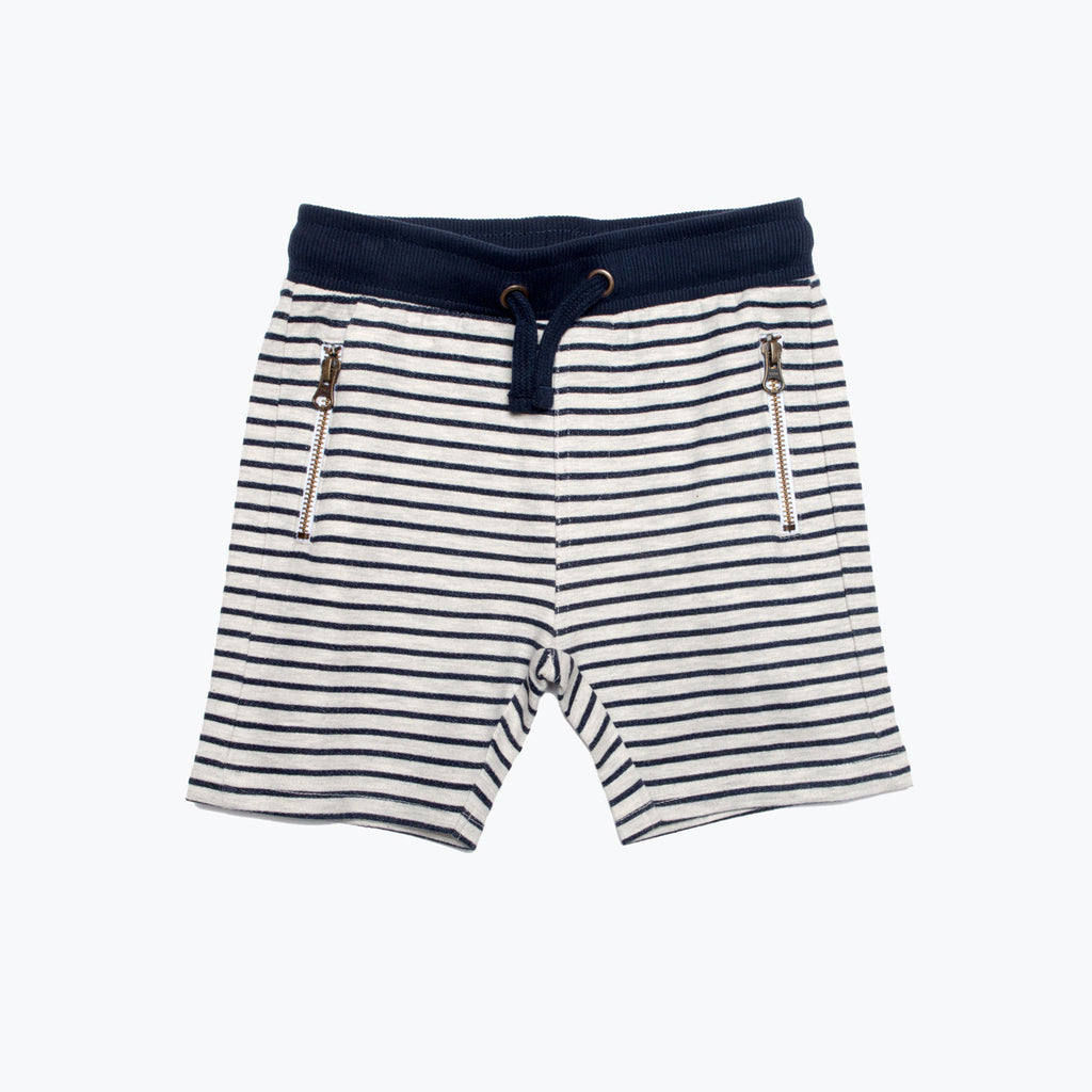 Boy's Pull-On Striped Knit Shorts